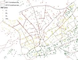 Distribution of PMTs