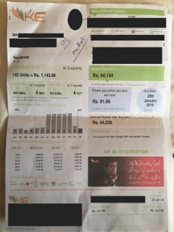 Sample Utility Bill